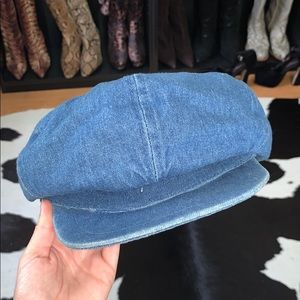 Retro Denim baker boy hat, small fit